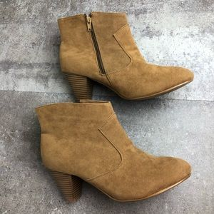 Lane Bryant Camel Ankle Plus Size Booties Size 12W